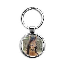 Mustang Round Keychain