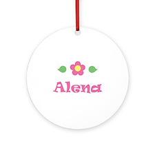 "Pink Daisy - ""Alena"" Ornament (Round)"
