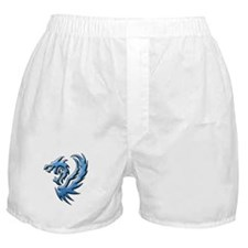 Twin Dragons: Blue Boxer Shorts