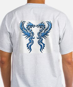 Twin Dragons: Blue T-Shirt