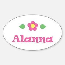 """Pink Daisy - """"Alanna"""" Oval Decal"""