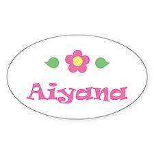 "Pink Daisy - ""Aiyana"" Oval Decal"