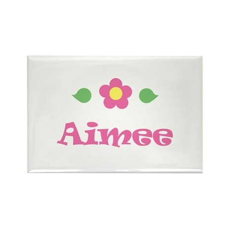 """Pink Daisy - """"Aimee"""" Rectangle Magnet"""