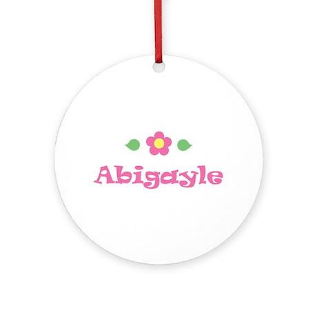 "Pink Daisy - ""Abigayle"" Ornament (Round)"
