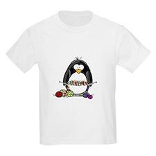 Knitting Penguin Kids T-Shirt