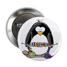 """Knitting Penguin 2.25"""" Button (10 pack)"""