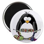 Knitting Penguin Magnet