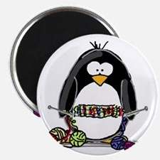 Knitting Penguin Magnet