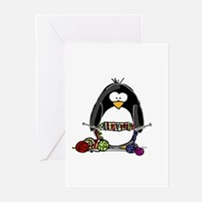 Knitting Penguin Greeting Cards (Pk of 10)