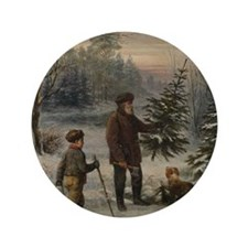 """Christmas Tree 3.5"""" Button (100 pack)"""