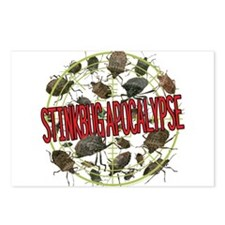Stink Bug apocalypse lgt Postcards (Package of 8)