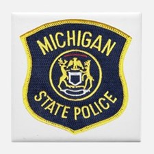 Michigan State Police Tile Coaster