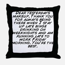 Unique Always late Throw Pillow