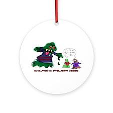 Evolution Vs ID Ornament (Round)