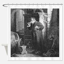 Drunk As a Monk Shower Curtain