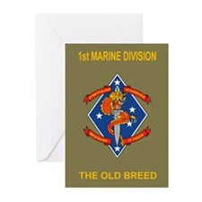 1st Bn 4th Marines<BR>Greeting Cards (6)