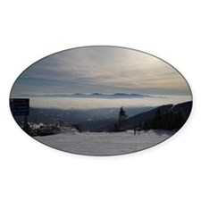 Skiing Above the Clouds Decal
