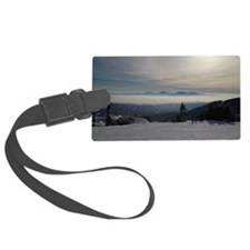Skiing Above the Clouds Luggage Tag