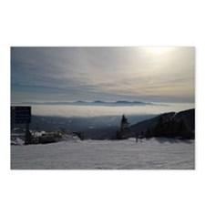 Skiing Above the Clouds Postcards (Package of 8)