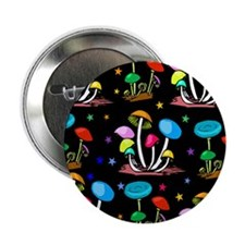 """Rainbow Of Shrooms 2.25"""" Button (10 pack)"""