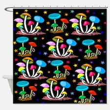 Rainbow Of Shrooms Shower Curtain