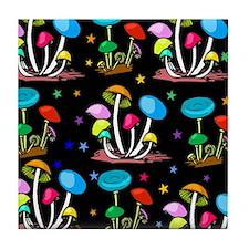 Rainbow Of Shrooms Tile Coaster