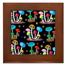 Rainbow Of Shrooms Framed Tile