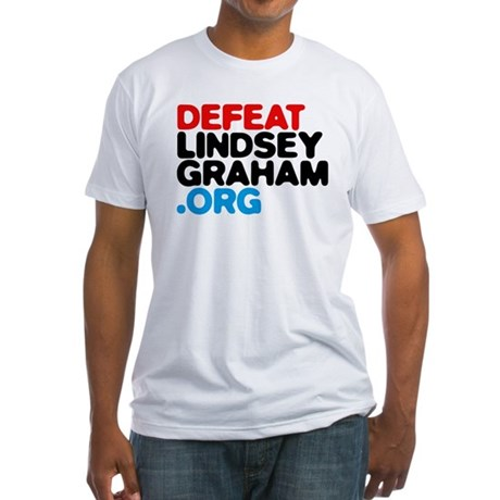 DefeatLindseyGraham.org Fitted T-Shirt