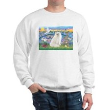 Lilies & White Persian Sweatshirt