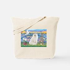 Lilies & White Persian Tote Bag