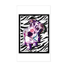 Ferdi Zebra Pop Rectangle Decal