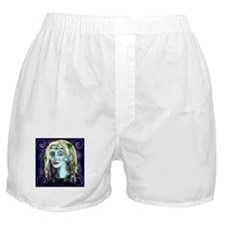 Portrait of a Blue Elf Boxer Shorts