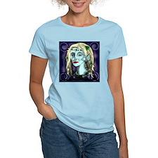 Portrait of a Blue Elf Women's Pink T-Shirt