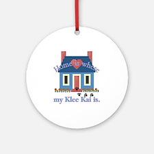 Alaskan Klee Kai Home Ornament (Round)