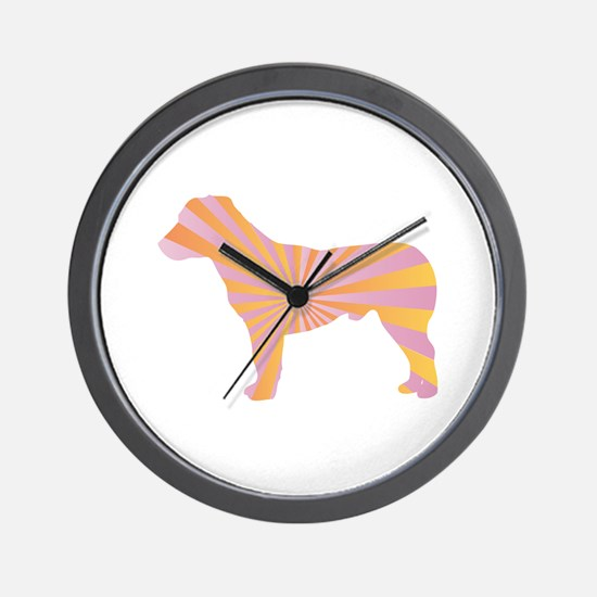 Jack Russell Rays Wall Clock