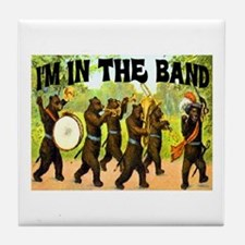 I'M WITH THE BAND Tile Coaster