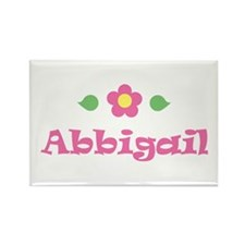 "Pink Daisy - ""Abbigail"" Rectangle Magnet"