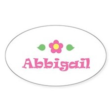 "Pink Daisy - ""Abbigail"" Oval Decal"