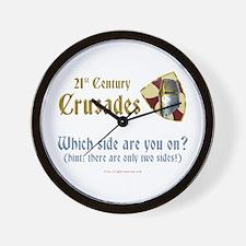 21st Century Crusades Wall Clock
