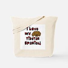 Love Tibetan Spaniel Tote Bag