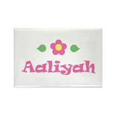 "Pink Daisy - ""Aaliyah"" Rectangle Magnet"