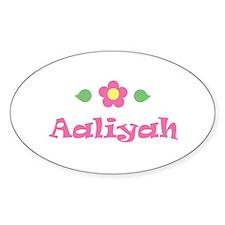 "Pink Daisy - ""Aaliyah"" Oval Decal"