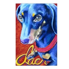 Dachshund Pastel Postcards (Package of 8)