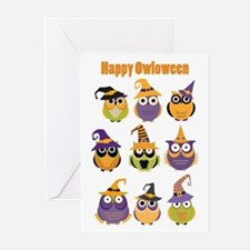 Happy Owloween Greeting Cards