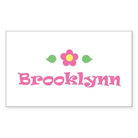 """Pink Daisy - """"Brooklynn"""" Rectangle Sticker"""