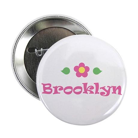 "Pink Daisy - ""Brooklyn"" Button"