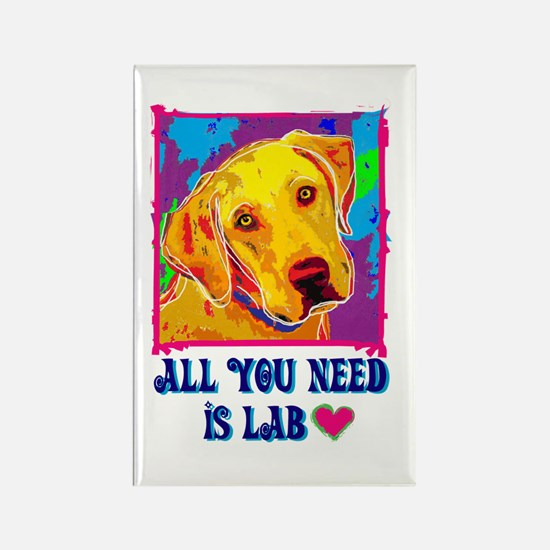 All You Need is Lab Rectangle Magnet
