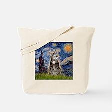 Starry / Tiger Cat Tote Bag
