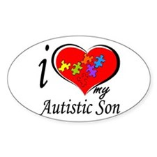 I love my Autistic Son Oval Decal
