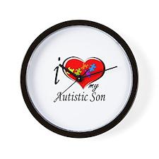 I love my Autistic Son Wall Clock